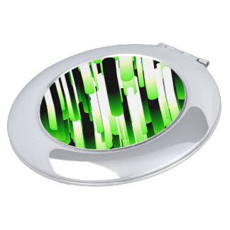 Verde del alto contraste espejo compacto