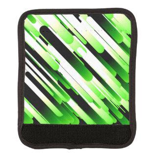 Verde del alto contraste cobertura para asa de maleta