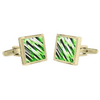 Verde del alto contraste gemelos dorados