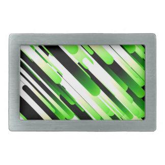 Verde del alto contraste hebillas cinturon rectangulares