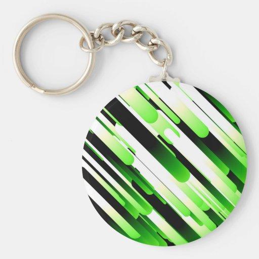 Verde del alto contraste llaveros personalizados