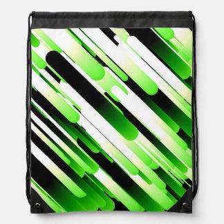 Verde del alto contraste mochilas