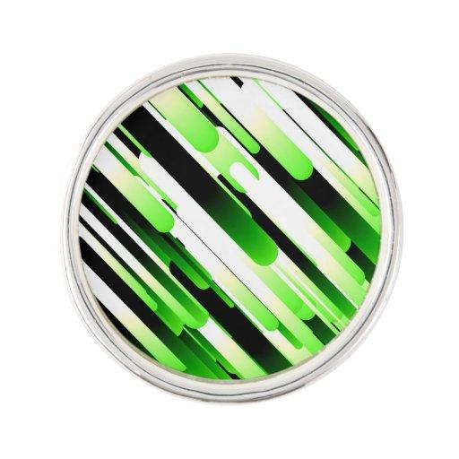 Verde del alto contraste insignia