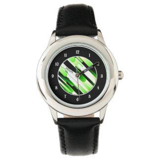 Verde del alto contraste reloj de mano