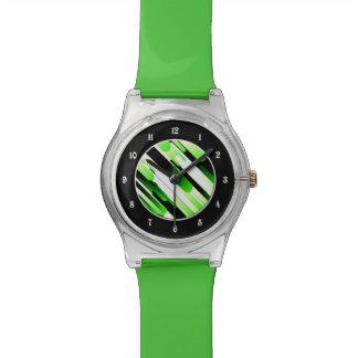Verde del alto contraste relojes de pulsera