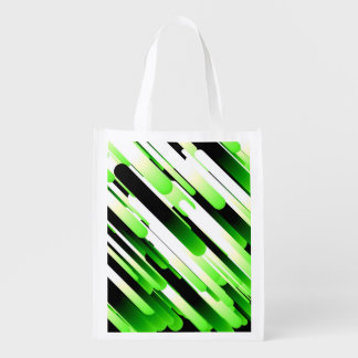 Verde del alto contraste bolsas reutilizables