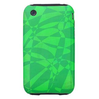 Verde del animal tough iPhone 3 carcasas
