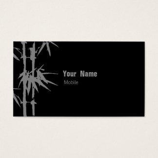 Verde del bambú tarjeta de negocios