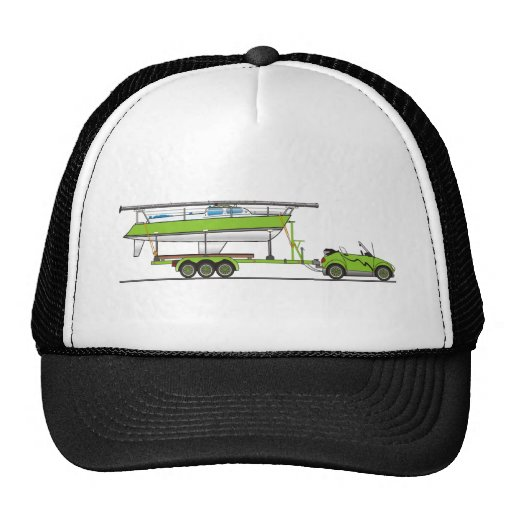 Verde del barco de vela del coche de Eco Gorro