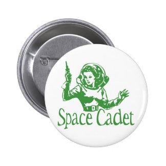 Verde del cadete del espacio chapa redonda de 5 cm