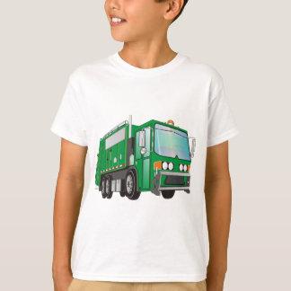 verde del camión de basura 3d camisetas