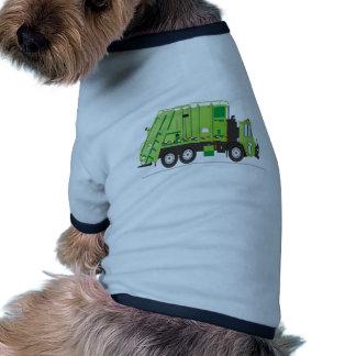 Verde del camión de basura camisas de perritos
