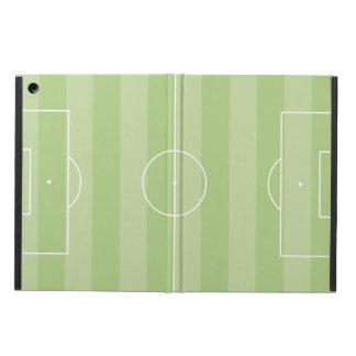 Verde del campo de fútbol