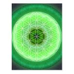 verde del chakra de 4 corazones creado por Tutti Tarjetas Postales