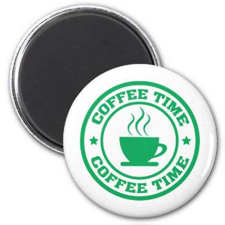 Verde del círculo del tiempo del café A251 Imán Redondo 5 Cm