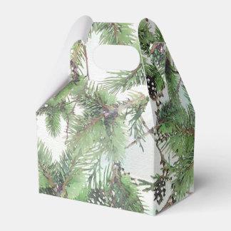 Verde del día de fiesta y boda del invierno del caja de regalos