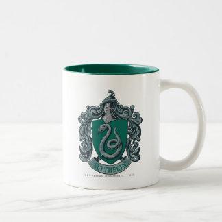 Verde del escudo de Slytherin Tazas De Café