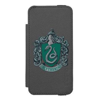 Verde del escudo de Slytherin Funda Cartera Para iPhone 5 Watson