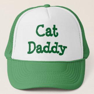 Verde del gorra del camionero del papá del gato