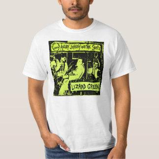 Verde del lagarto camiseta