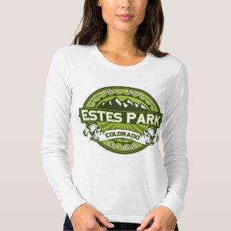 Verde del logotipo del parque de Estes Camisetas