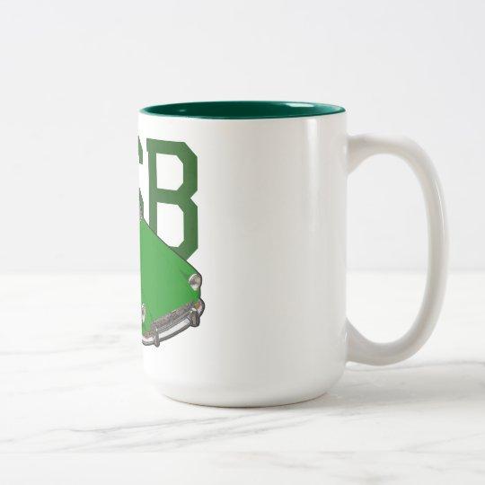 verde del mgb taza de café de dos colores