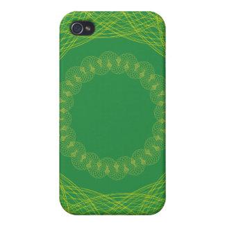 Verde del modelo de la malla del guilloquis iPhone 4 carcasa