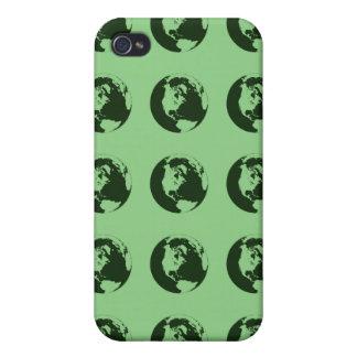 Verde del modelo del mundo iPhone 4 carcasas