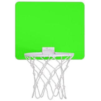 Verde del neón mini tablero de baloncesto