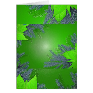 Verde del Poinsettia del navidad Tarjeta De Felicitación