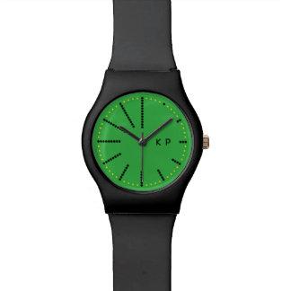 Verde del reloj del punto