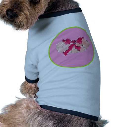 verde del rosa del círculo del tutú camisas de mascota