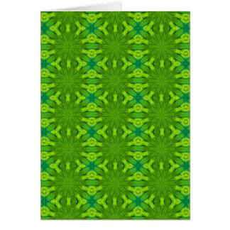 Verde del safari de selva, tarjeta de nota