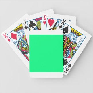 Verde del trébol barajas de cartas