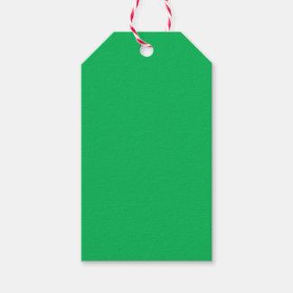 Verde del trébol etiquetas para regalos