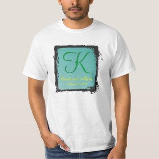 verde del trullo del monograma 3d camiseta