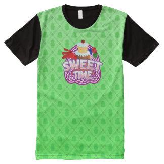 Verde dulce del tiempo toda la camiseta impresa