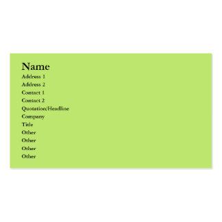 verde en colores pastel tarjetas de visita