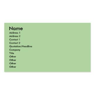 verde en colores pastel plantillas de tarjetas personales
