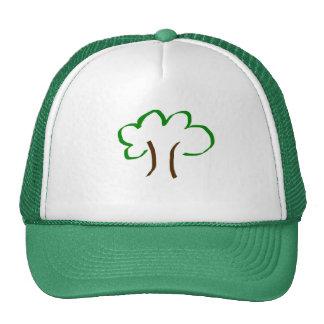 Verde en su cabeza gorra