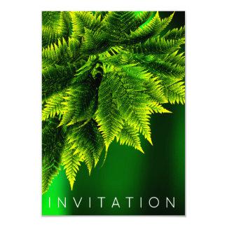 Verde esmeralda del cocinero del helecho del invitación 8,9 x 12,7 cm