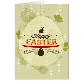 Verde feliz de Pascua Tarjetón