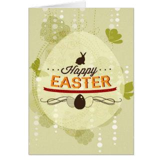 Verde feliz de Pascua Tarjeta De Felicitación