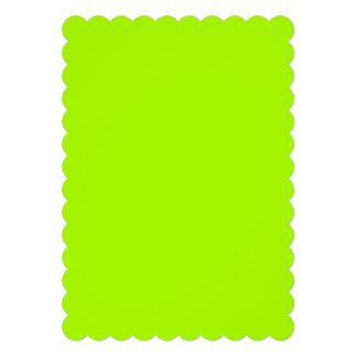Verde fluorescente comunicados