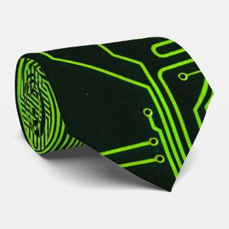 Verde fresco del ordenador de placa de circuito corbatas personalizadas