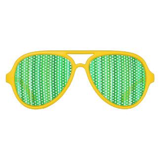 Verde frondoso - sombras del fiesta del aviador gafas de fiesta