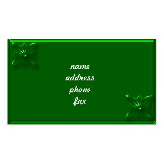 verde grabado en relieve tarjetas personales