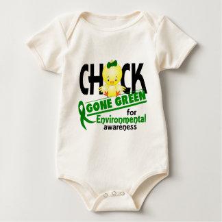 Verde ido polluelo ambiental 2 bodi de bebé