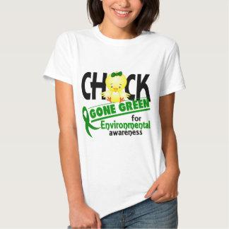 Verde ido polluelo ambiental 2 camiseta