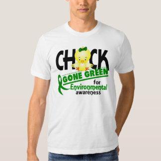 Verde ido polluelo ambiental 2 camisetas